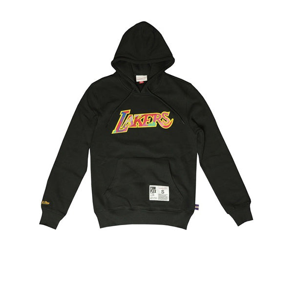 TAKASHI MURAKAMI COMPLEXCON x LA LAKERS M&N MUTATED FLOWER HOODIE BLACK FW19
