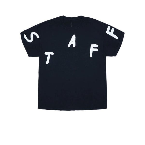 TRAVIS SCOTT ASTROFEST STAFF TEE BLACK 2019