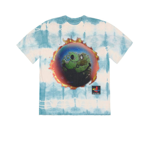 TRAVIS SCOTT THE SCOTTS WORLD TIE DYE TEE BLUE SS20