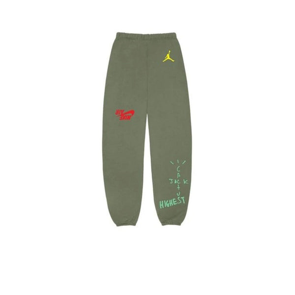 TRAVIS SCOTT JORDAN CACTUS JACK HIGHEST SWEATPANTS OLIVE FW19