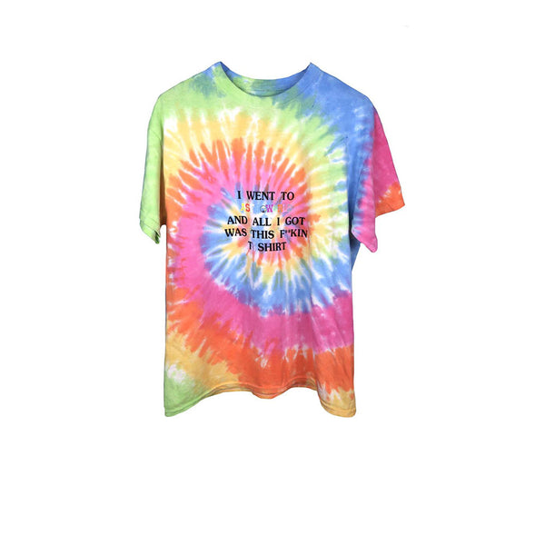 TRAVIS SCOTT ASTROWORLD LOLLAPALOOZA I WENT TO ASTROWORLD TEE TIE DYE