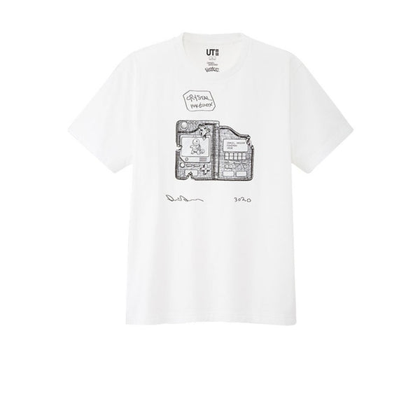 UNIQLO X DANIEL ARSHAM X POKEMON CRYSTAL POKEDEX TEE WHITE