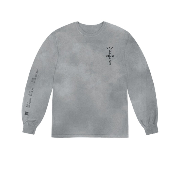 TRAVIS SCOTT BACK BLING L/S TEE GREY SS20