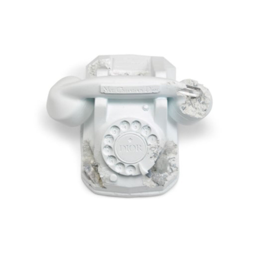 DIOR X DANIEL ARSHAM FUTURE RELIC ERODED TELEPHONE SCULPTURE