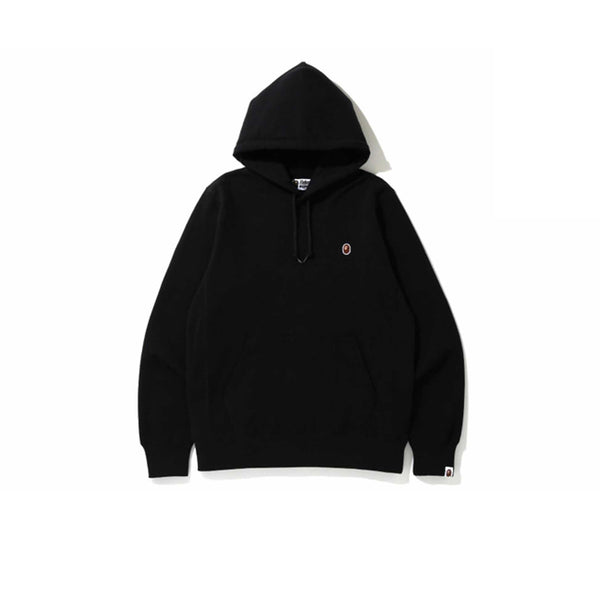 BAPE SMALL LOGO PATCH PULLOVER HOODIE BLACK