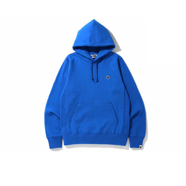 BAPE SMALL LOGO PATCH PULLOVER HOODIE BLUE