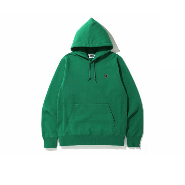 BAPE SMALL LOGO PATCH PULLOVER HOODIE GREEN
