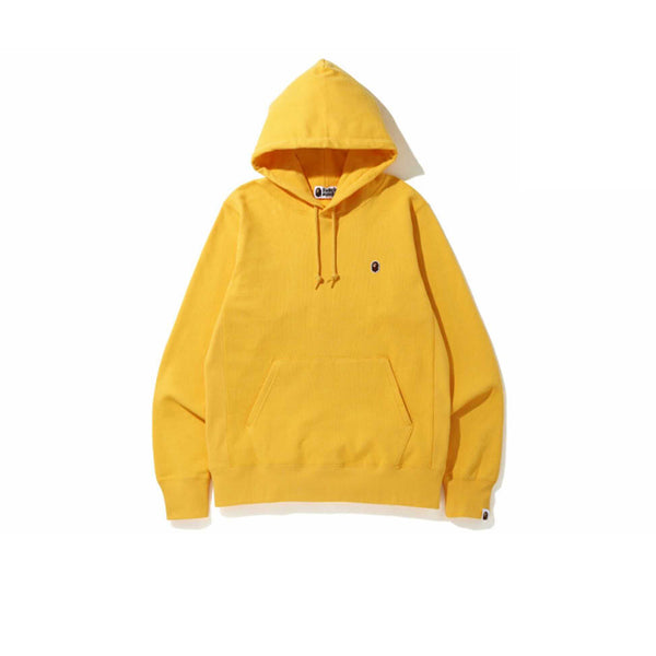 BAPE SMALL LOGO PATCH PULLOVER HOODIE YELLOW