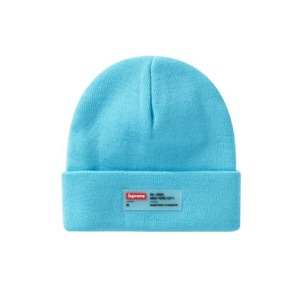 SUPREME CLEAR LABEL BEANIE CYAN FW20