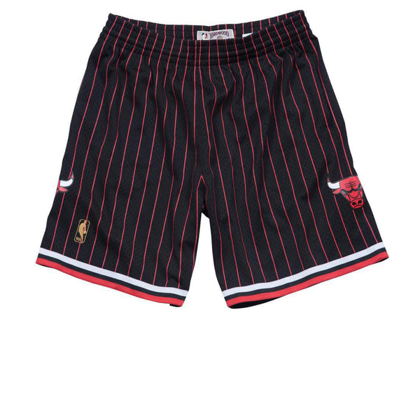 MITCHELL & NESS NBA HARDWOOD CLASSIC CHICAGO BULLS SWINGMAN SHORTS PINSTRIPES