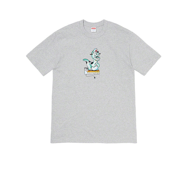 SUPREME DINOSAUR TEE HEATHER GREY SS20
