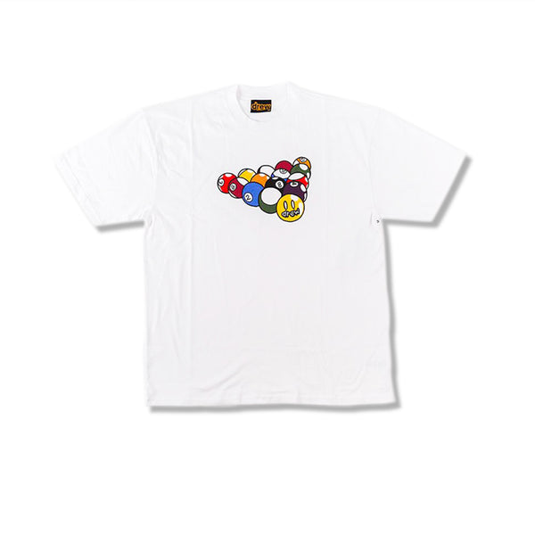 DREW HOUSE BILLIARDS SS TEE WHITE