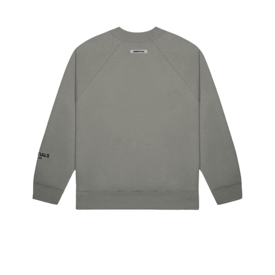 FEAR OF GOD ESSENTIALS 3D SILICON APPLIQUE CREWNECK GRAY FLANNEL/CHARCOAL