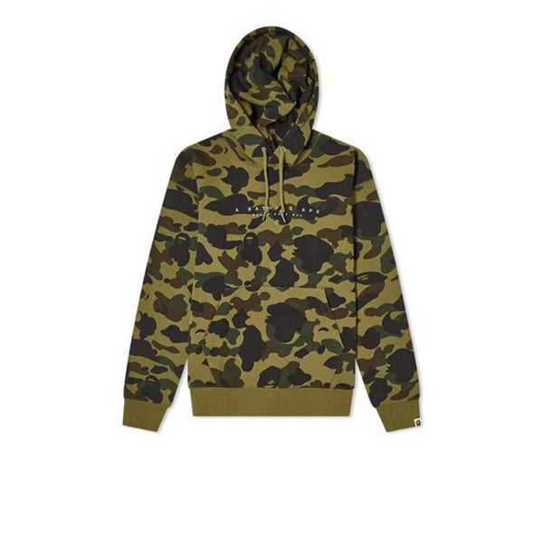 BAPE WORLD GONE MAD HOODIE  1ST CAMO GREEN