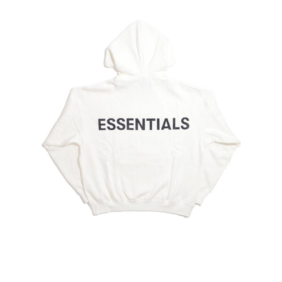 FEAR OF GOD ESSENTIALS 3M LOGO PULLOVER HOODIE WHITE