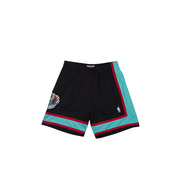 MITCHELL & NESS NBA HARDWOOD CLASSIC VANCOUVER GRIZZLIES SWINGMAN 2000-01 AWAY SHORTS BLACK/GREEN