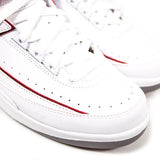 "AIR JORDAN 2 RETRO GS ""WHITE/VARSITY RED"" 395718-102"