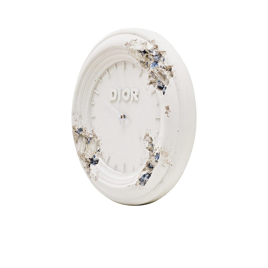 DIOR X DANIEL ARSHAM FUTURE RELIC ERODED CLOCK SCULPTURE