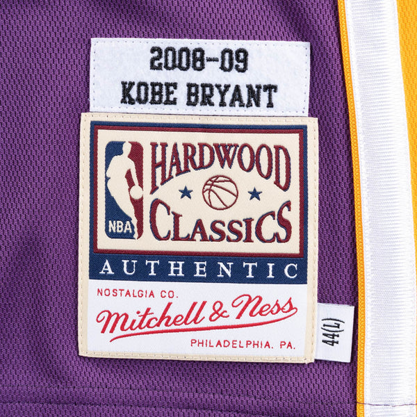 MITCHELL & NESS NBA HARDWOOD CLASSIC AUTHENTIC LOS ANGELES LAKERS KOBE BRYANT JERSEY PURPLE 08-09