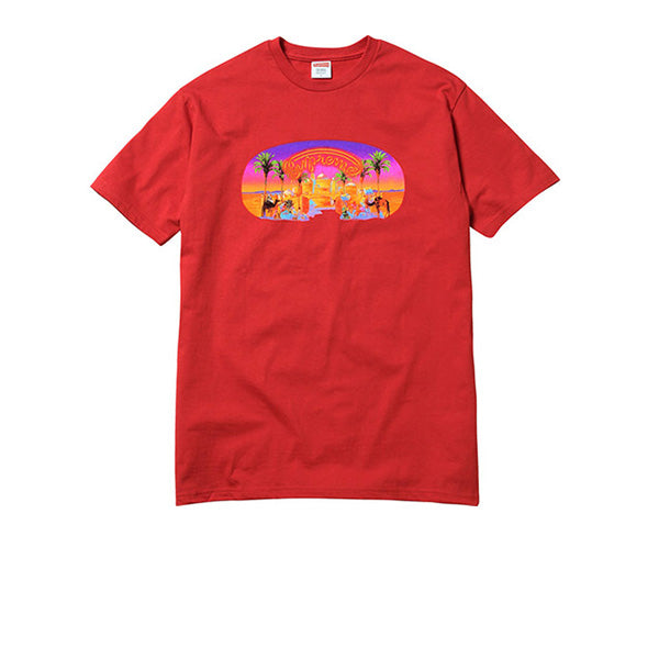 "SUPREME ""MIRAGE"" RED T-SHIRT SS17"