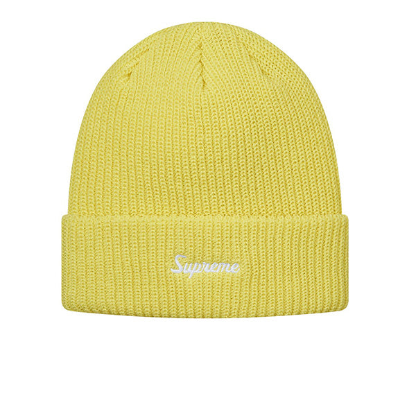 "SUPREME LOOSE GAUGE BEANIE ""LIGHT YELLOW"" FW17"