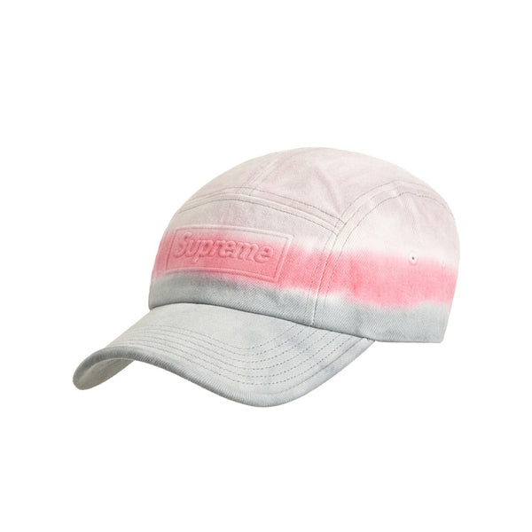 SUPREME EMBOSSED DENIM CAMP CAP PINK DIP DYE SS20
