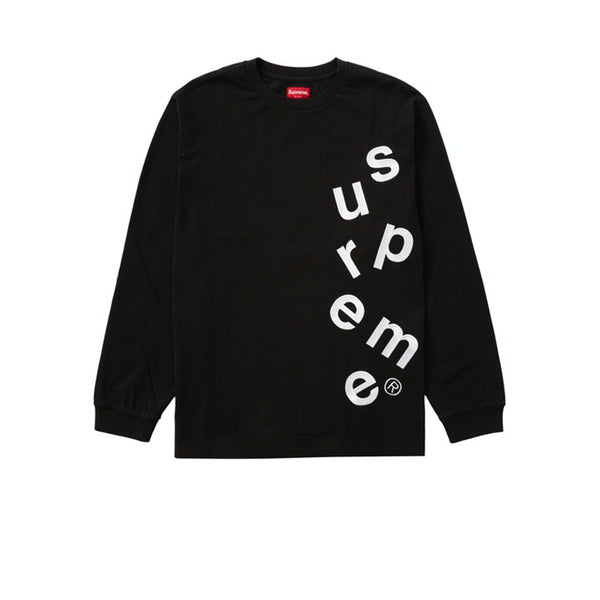 SUPREME SCATTER LOGO L/S TOP BLACK FW20