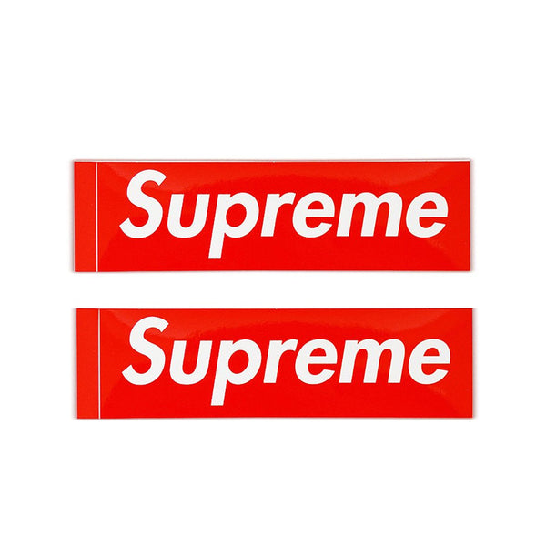 SUPREME BOX LOGO STICKER X 2