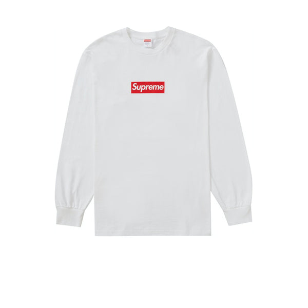 SUPREME BOX LOGO L/S TEE WHITE FW20