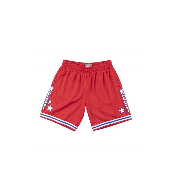 MITCHELL & NESS NBA HARDWOOD CLASSIC SWINGMAN 88 ALL STAR WEST SHORTS RED