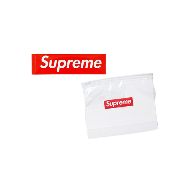 SUPREME ZIPLOC BAG CLEAR SS20 + SUPREME BOX LOGO STICKER COMBO