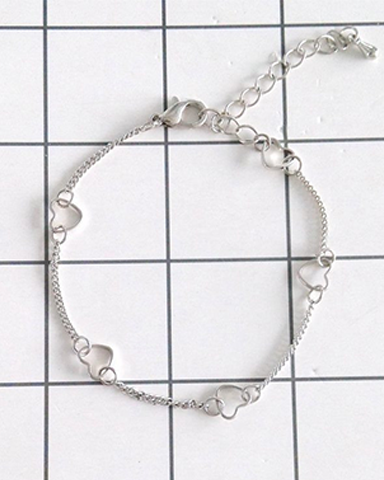 Simple Tiny Hearts Bracelet