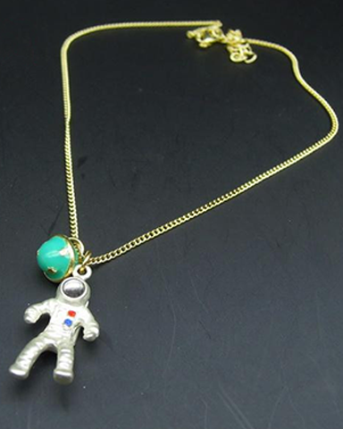 Astronaut Planet Necklace