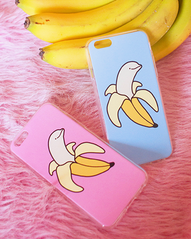 Banana Dolphin Iphone Case