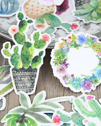 Cactus 28pcs  Sticker Pack