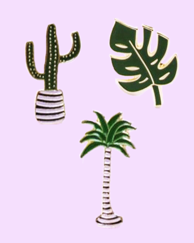 Cactus, Palm Tree & Leaf Pins