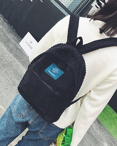 Retro Corduroy Backpack
