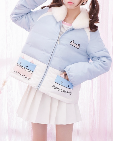 cute monster winter jacket