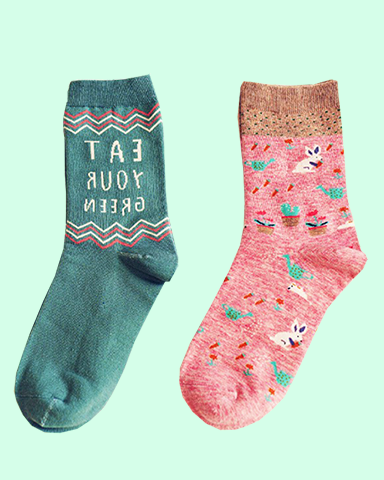 Eat your Greens Socks (2 pairs)