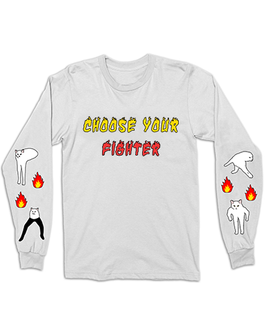 Choose your Fighter Cat Long Sleeve Tee