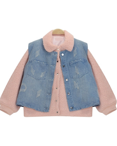 Fluffy Denim Jacket