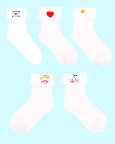Cuttie Folded Socks