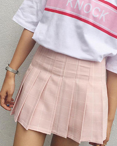 Grid Tennis Skirt