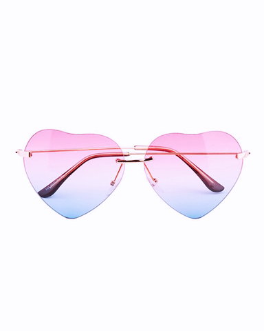 Heart reflective sunglasses