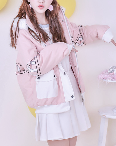 Kawaii Ice Cream Winter Jacket