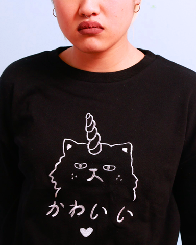 Kawaii Unicorn Cat Sweater