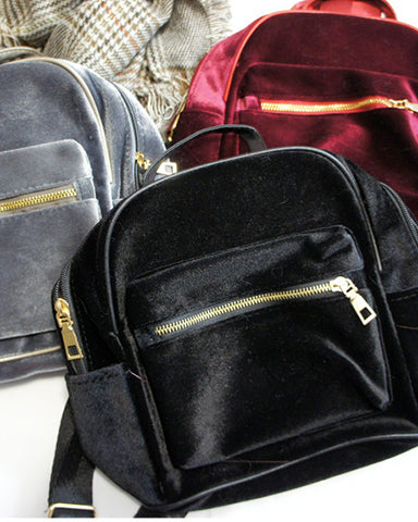 Mini Velvet Backpacks