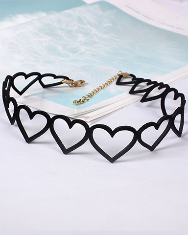 Heart Outline Choker