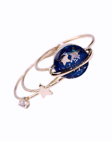 Planet & Star Ring Set of 3