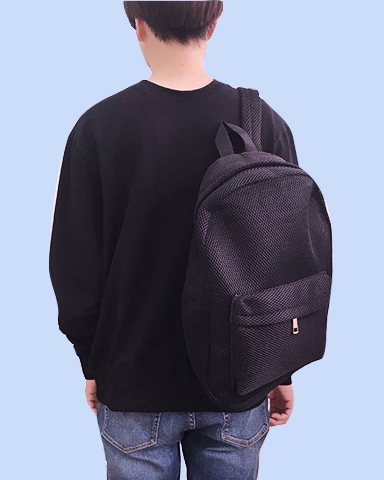 soft mesh grid backpack
